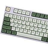 Matcha Keycaps, 125 PBT Keycaps ZDA Similar to XDA English Japanese Korean Russian for Keyboard Gh60/Poker 87/TKL 104/ANSI/XD64/BM60 /XD68/XD84/XD968(only Sell keycap)