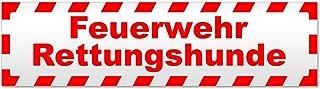 Gr Saugnapf 8x10,5cm 308045//2 wei/ß incl RETTUNGSDIENST R/ückspiegel im Auto Hinweisschild f