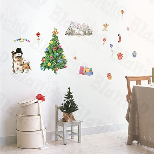 christmas-1 – Stickers muraux Stickers pour Home Decor couleurs mixtes