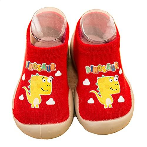 SMajong Bebé Zapatos de Calcetines Niños Zapatos de Primeros Pasos Suave Antideslizante Zapatos de Casa Verano Transpirables 26/27 EU