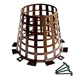 Smart Spring Plant and Tree Guard and Protector for Trees, Plants, saplings, Landscape Lights, lamp Posts; Expandable for Larger Trees; Protection from Trimmers, Weed whackers (Brown 6-Pack)