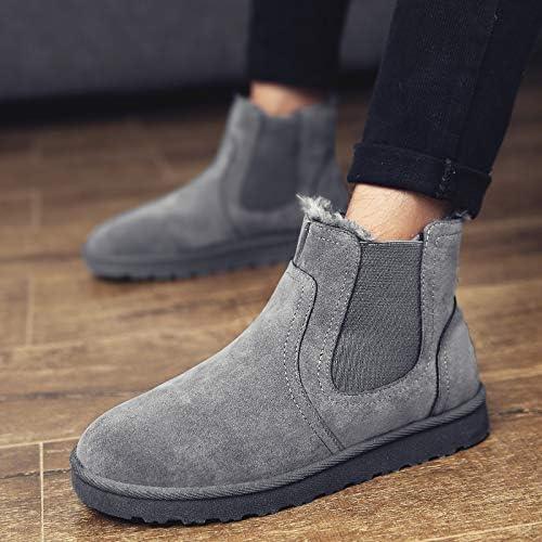LOVDRAM Bottes Homme Bottes d'hiver De Neige Bottes Courtes pour Hommes Bottes en Coton Chaussures pour Hommes Chaussures en Coton Chaudes Chaussures Martin Chaussures Bottes pour Hommes