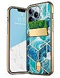 i-Blason Cosmo Wallet Slim Designer Wallet Case Card Holder for iPhone 13 Pro Max (2021), 6.7' (Ocean)
