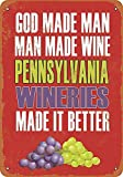 YASMINE HANCOCK Pennsylvania Wineries Make Better Wine Metall Plaque Zinn Logo Poster Wand Kunst...