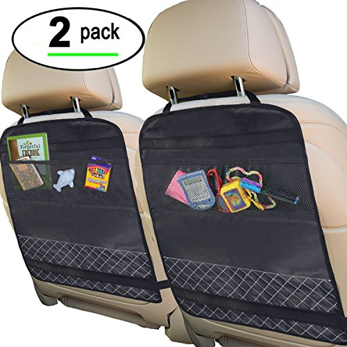 Best Kick Mats with Backseat Organizer Pocket Storage –...