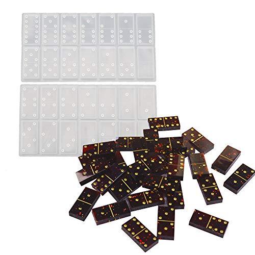 Szecl ドミノ シリコンモールド 樹脂製 子供用 水玉 ハンドメイド ドミノ型 シリコンエポキシセット ドミノゲーム 大人や家族用 ドミノ ボードゲーム カジノ パーティー用品