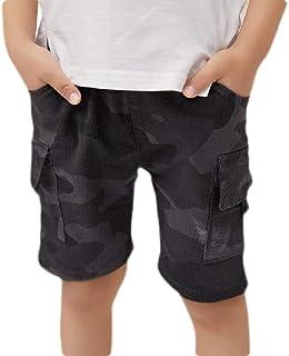 Mornyray Kids Little Baby Girls Regular Straight Denim Pants Elastic Blue Jeans