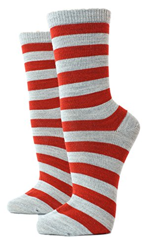 Shimasocks Kinder Damen Herren Socken Ringel mit Kaschmir, Größe:35/38 bzw. 140/146, Farben alle:grau/rostrot
