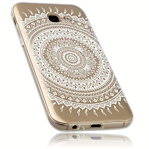 mumbi Hülle kompatibel mit Samsung Galaxy A5 2017 Handy Case Handyhülle mit Motiv Mandala weiss, transparent