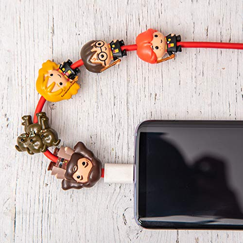 Wow! Stuff Collection Wizarding World Harry Potter K-Bling - 5 Pack Collectable Cable Protector, Multicolor, WW-KB-1109 Minnesota