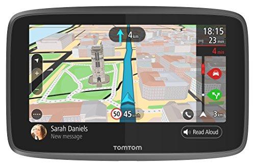 TomTom GO 6200 Navigatore Satellitare per Auto - 6 Pollici, Chiamata in Vivavoce, Siri & Google Now, Aggiornamenti da Wi-Fi, Traffic tramite SIM Inclusa, Mappe del Mondo, Messaggi dello Smartphone