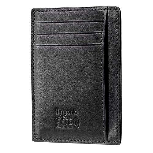 flintronic® Portefeuille en Cuir, Etui RFID Blocage Porte Carte de Crédit, Zip Porte-Monnaie