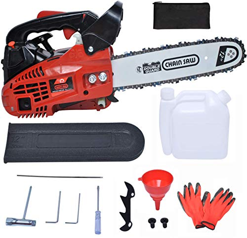 Podoy 25cc 2-Stroke Chainsaws Powered with Tool Kit Petrol Chain Saw for Cutting Wood Farm Garden