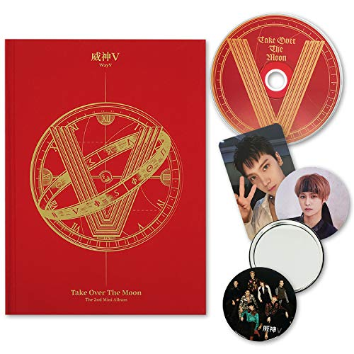 WAYV 2nd Mini Album - [ TAKE OVER THE MOON ] CD + Booklet + Photocard + Circle Card + FREE GIFT / K-pop Sealed