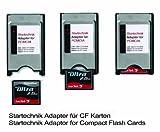 PCMCIA Compact Flash Adapter TYP I für Compactflashgeräte, CF GPS Empfänger, CF Speicherkarten...