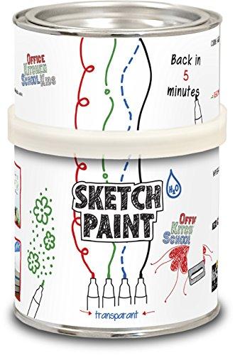 First4magnets Sketch (Whiteboard) Farbe von MagPaint 0,5 Liter (3sqm Abdeckung) -Gloss transparent, Metall, White, 25 x 10 x 3 cm