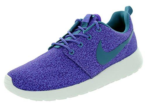 Nike Rosherun 599432 - Zapatillas de Deporte para Mujer, (Morado Haze/Hyper Grape/Volt/Azul Rift), 36.5 EU