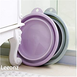 Leeonz Multi-Purpose Collapsible Wash Basin, Portable Folding Catch Basin with Hanging Hole & Save Storage Space, for Home...