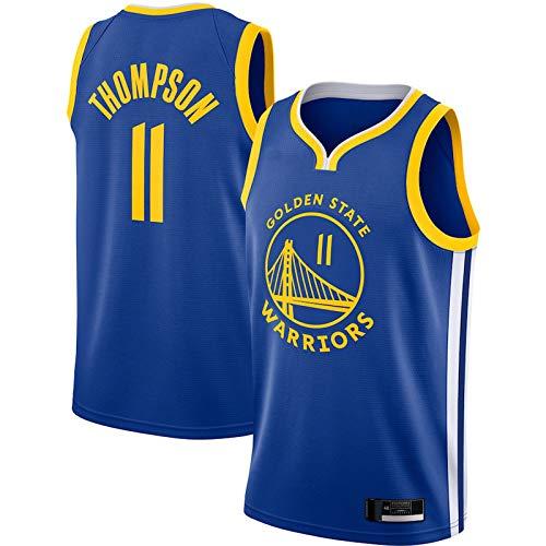 Azul - Hombres Adulto No.11 Klay Thompson Mesh Baloncesto Cool Golden State Warriors Basketball Jersey 2020/21 Temporada Deportes Baloncesto Jersey Chaleco