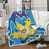 QSTT The Simpsons Wolldecken  Sofa- und Flanelldec