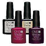CND Shellac Tinted Love plus Plum Paisley plus Top Coat plus Base Coat 7.3 ml, 1er Pack (1 x 29 ml)