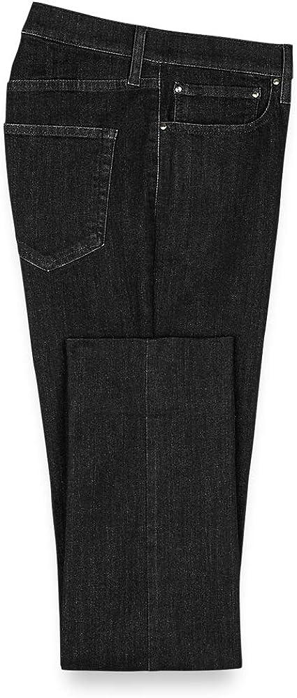 Paul Fredrick Men's Five Pocket Denim Pants, Size 44 X 32 Black