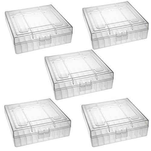 TACBRO Heavy Duty See-Thru Ammunition Storage Boxes .22LR- 5 Pack
