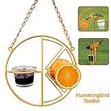 Mworld2 Outdoor Garden Oriole Bird Feeder, Automatic Easy Clean Outdoor Garden Matal Hanging