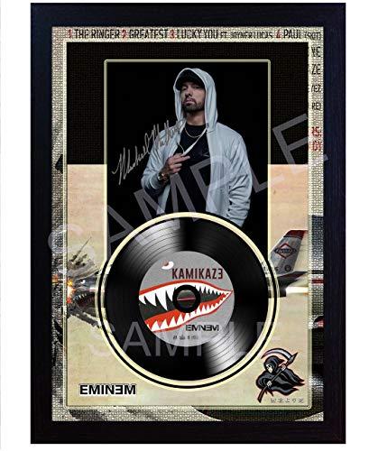 SGH SERVICES Eminem Kamikaze Foto mit Autogramm, gerahmt