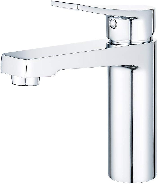 CasavillaEurope Chrome Basin Mixer Tap Bathroom Sink Taps Single Lever Washbasin Faucet Brass Hot Cold Mixer Tap (Chrome)