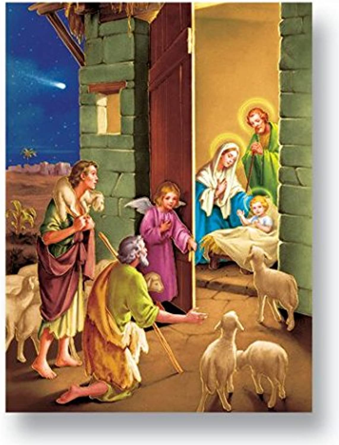 StealStreet SS-WJH-192-806 The Nativity Italian gold color Embossed Poster