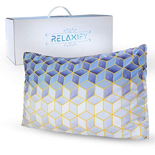 RELAXIFY Orthopädisches Kissen inkl. Kissenbezug 40 x 60 - Memory Foam Kopfkissen zur Unterstützung Ihrer HWS - formbar & waschbar - beugt Nackenschmerzen & Migräne vor