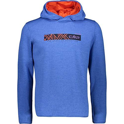 CMP fleecetrui trui heren sweat FIX hood blauw & oranje ademend elastisch verwarmend