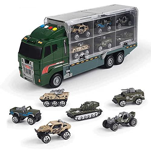 KGUANG Rompecabezas Educación temprana Conjunto de Camiones de contenedores Grandes Ingeniería de Camiones Lucha contra Incendios Ejército de Rescate Aleación para niños Coche Juguetes Vehículo Niños