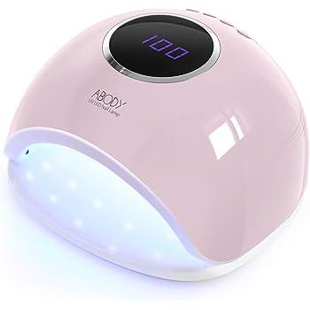 Abody Lampada UV LED Lampada Unghie 48W, Fornetto per Unghie con LCD Display & 4 Timer Preimpostati & Sensore Automatico per Gel per Unghie (Rosa)