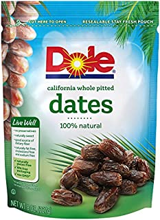 Dole, Dates, California Whole Pitted, 8oz