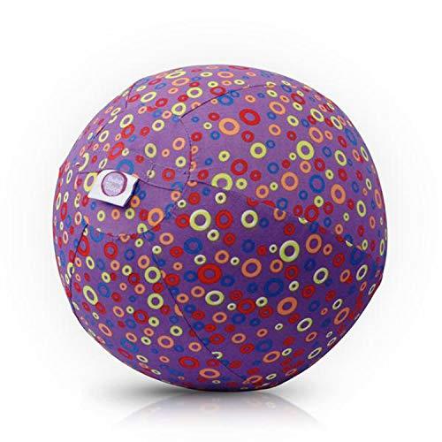 Abanico BB-17702 - BubaBloon Ballonhülle Bubbles, kinderfreundliche, textile Ballonhülle aus hochwertiger Popeline Baumwolle, inklusive 3 Latex Luftballons, lila