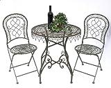 DanDiBo Ambiente Mesa y sillas Málaga 12184–85jardín Mesa + 2pcs. Muebles de jardín Mesa Silla de jardín