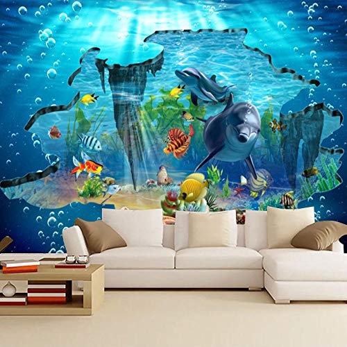 RTYUIHN 3D Wallpaper Mural Bottom World Theme Hotel Bedroom Living Room 3D Three-Dimensional Ocean Bedroom Living Room Modern Wall Art Decoration