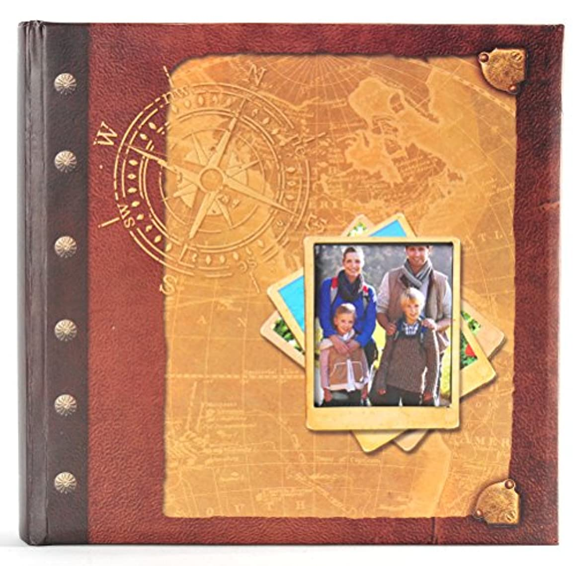 Pinnacle Frames and Accents Antique Map 160-Pocket Travel Photo Album