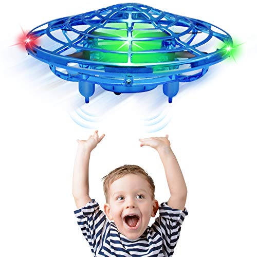 CPSYUB Hand Operated Drones for Kids or Adults, Kids Mini Drone Toys for Age 4, 5, 6, 7, 8, 9 10 Year Old Boys, Easy Indoor Small UFO Flying Ball Drone Toys for Boys and Girls (Blue)
