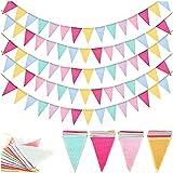 5pcs 60 Tabletten Wimpelkette,Leinenimitat Wimpel,Mehrfarbig Dreieck Flaggen,Wimpelkette Wimpel Banner Wimpel,Girlande draußen Outdoor Dekoration
