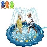 Splash Pad, rociadores for niños y piscina de niño for el aprendizaje 3-en-1 68' Splash estera del juego con tres juguetes for la piscina inflable, al aire libre Piscina for verano juguetes de agua fo