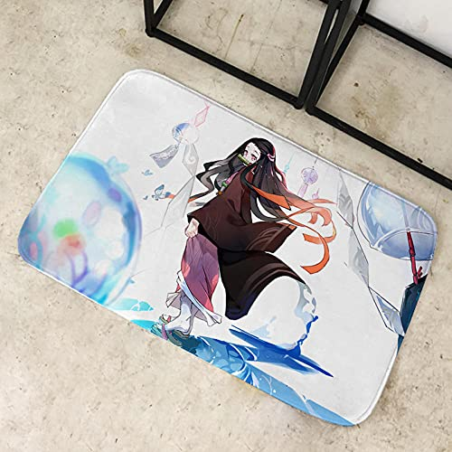 Anime De Gran tamaño Demon Slayer Alfombras, Alfombra de Felpa de Pelo Corto, Alfombra de Piso para niños de guardería, Almohadilla Antideslizante para el hogar-80X120CM-A_80x120cm