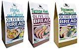 Rabbit Creek Olive Oil Bread Mix Variety Pack of 3 – Herb & Cheese, Rosemary & Parmesan, and Tuscan Herb...