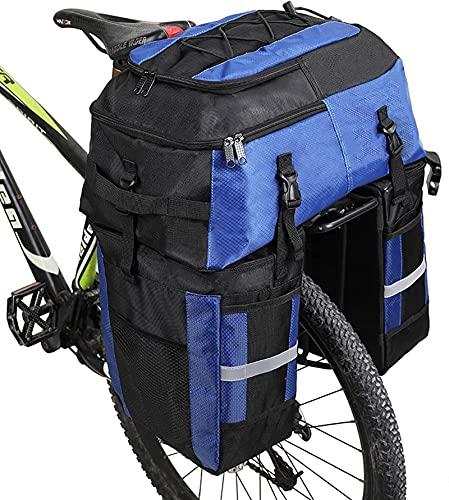 XXT Bicicleta Mid- y Larga Distancia Montar Bolsa de Camello Tres-en uno Bolsa de Estante multifunción Equipo de equitación de Gran Capacidad (Color : Blue)