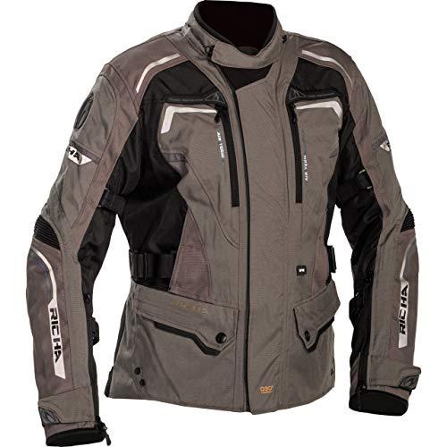 Riha Infinity 2 - Chaqueta impermeable para motocicleta (texil), color bronce, 5415033173396, marrón, L