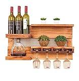 POETRY Botelleros para Colgar en la Pared para Colgar en la Pared para Colgar en la Pared para Botellas de Vino para Colgar en la Pared para Botellas de Vino |Diseño de decoración de Pared de