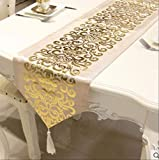 FHFF Tischdecke, luxuriös, Samt, Tischläufer, Tischfahne,