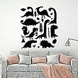 YBHNB Adhesivos De Pared Habitación Infantil Vinilos De Animales Tatuajes De Pared Guardería Aula Dormitorio Decoración Adorno Arte 30X32Cm